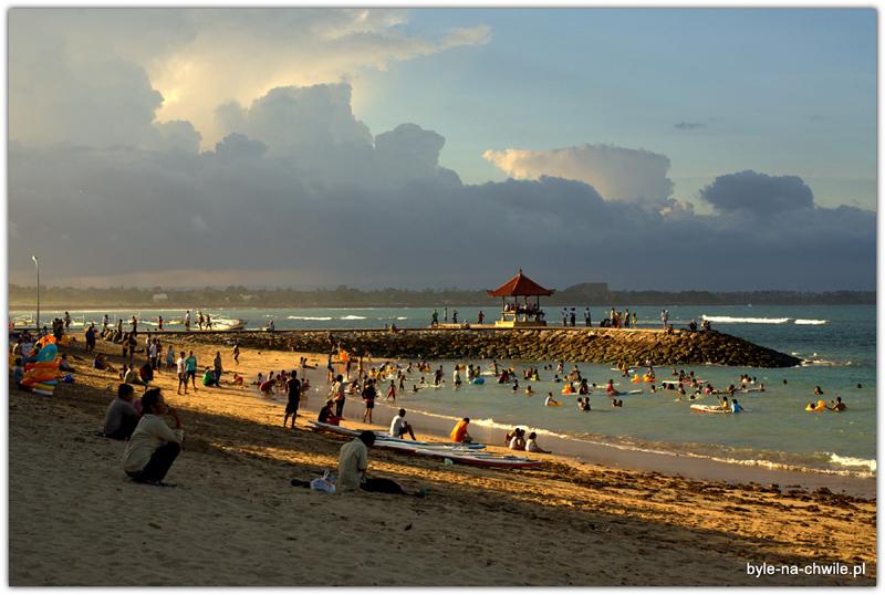 Plaża wSanurze- południe Bali